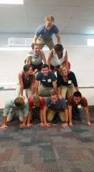 First year students tackle teamwork in class