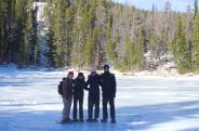 First year DPT students snowshoeing in Rocky Mountain National Park