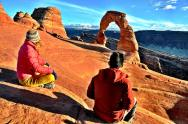 Diane and James enjoying the start to winter break in Moab