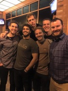 1st years Jesse, Gio, Taylor, Connor, Zach and Brett take study break