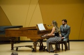 Second year Catie Munson sang and played piano (PC: Aj Davies)