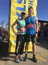 Nolan ('18) and Lauren (17') ran the Boston Marathon!