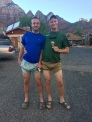Alex and Chris celebrate the end of their second semester in Zion